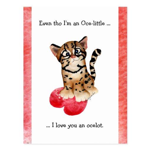 Incluso tho, te amo una postal del Ocelot