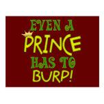 Incluso un príncipe Burps Postales