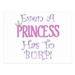 Incluso una princesa Burps Postales