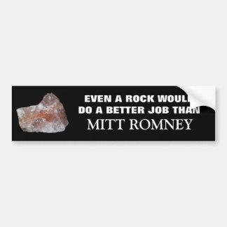 Incluso una roca haría a un mejor Jon que Romney Pegatina Para Auto