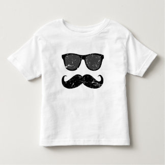 Incognito boy - funny mustache and sunglasses toddler t-shirt