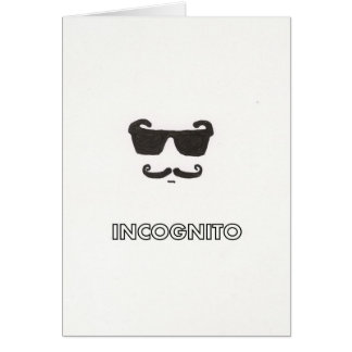 incognito greeting card
