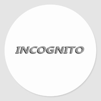 Incognito Classic Round Sticker