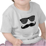 incognito - funny mustache and pink shades shirt