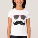 Incognito girl - funny mustache and sunglasses T-Shirt