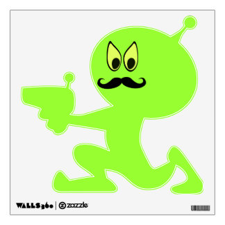 Incognito Mustache Alien Wall Decal