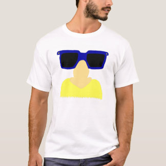 Incognito Mustache & Glasses Adult Basic T-Shirt