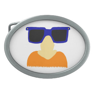 Incognito Mustache & Glasses Belt Buckle