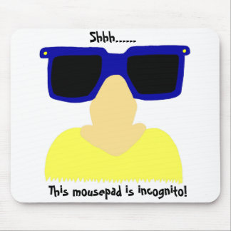 Incognito Mustache & Glasses Blonde Mousepad