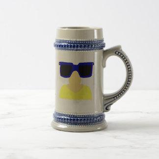 Incognito Mustache & Glasses Blonde Stein