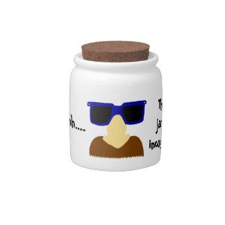 Incognito Mustache & Glasses Candy Jar