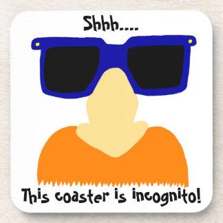 Incognito Mustache & Glasses Coasters - Set of 6