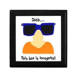 Incognito Mustache & Glasses Keepsake Box