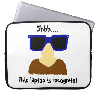 Incognito Mustache & Glasses Laptop Sleeve