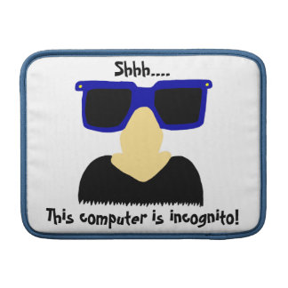 Incognito Mustache & Glasses Macbook Air Sleeve
