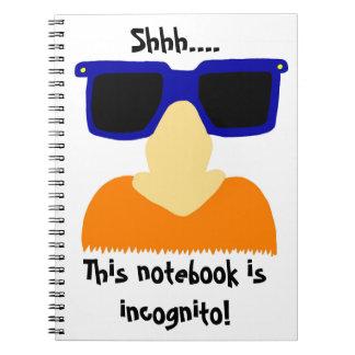 Incognito Mustache & Glasses Notebook