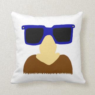 Incognito Mustache & Glasses Pillow