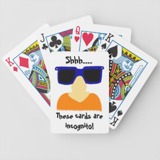 Incognito Mustache & Glasses Playing Cards