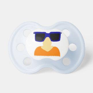 Incognito Mustache & Glasses Redhead Pacifier