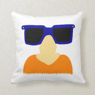 Incognito Mustache & Glasses Redhead Pillow