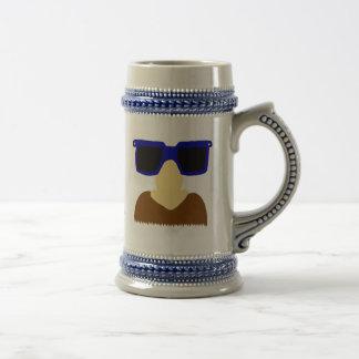 Incognito Mustache & Glasses Stein