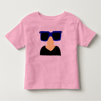 Incognito Mustache & Glasses Toddler Ringer Tee
