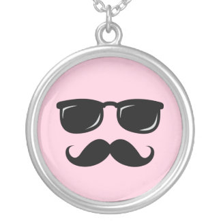Incognito necklace with mustache and sunglasses