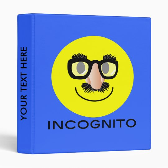 'incognito' SMILEY FACE BINDER