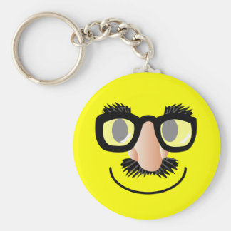 'incognito' SMILEY FACE KEYCHAIN