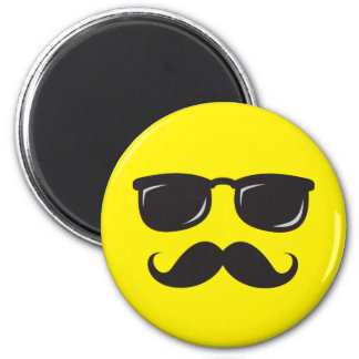 Incognito smiley magnet with mustache and glasses