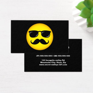 Incognito smiley with mustache business card