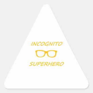 Incognito Superhero 01O Triangle Sticker