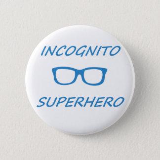 Incognito Superhero 1BL Pinback Button