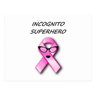 Incognito Superhero 6 pink Post Cards