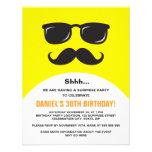 Incognito yellow surprise party invitation