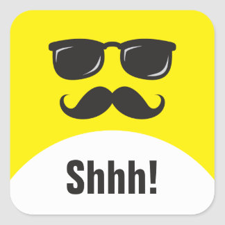 Incognito yellow surprise party shhh! stickers