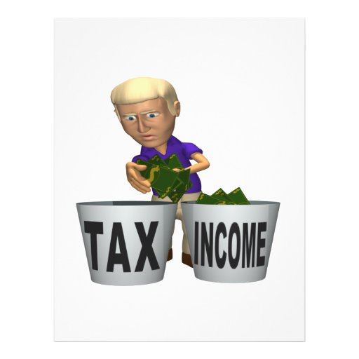 """Income Tax 8.5"""" X 11"""" Flyer"""