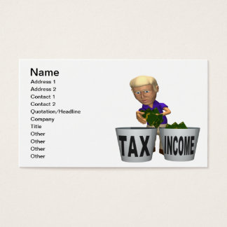 Income Tax Business Card
