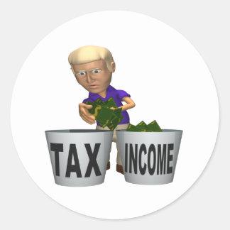 Income Tax Classic Round Sticker