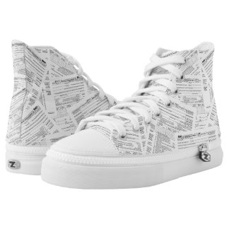 Income Tax Forms High-Top Sneakers