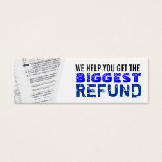 Income Taxes Skinny Business Cards at Zazzle