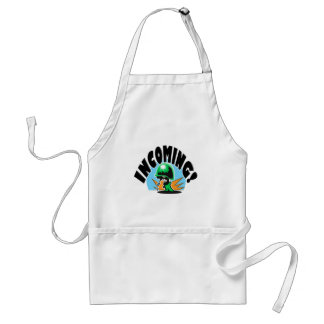 INCOMING! ADULT APRON