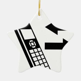 Incoming Calls Outgoing Calls House Phone Ceramic Ornament
