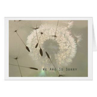 Incoming goods of acres so sorry greeting card