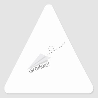 Incoming Paper Airplane Triangle Sticker
