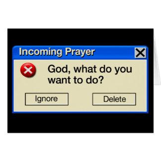 INCOMING PRAYER CARD