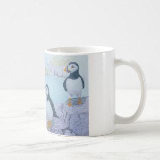 Incoming! Puffins Original Art Mug