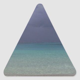 Incoming Storm on Beach Triangle Sticker