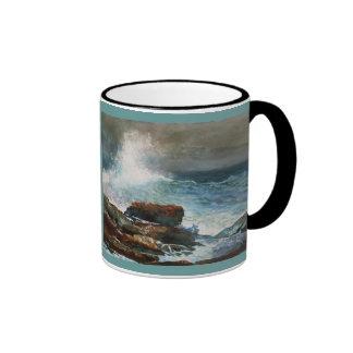 Incoming Tide, Scarborough, Maine Ringer Mug