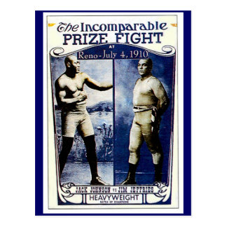 Incomparable Prize Fight Postcard